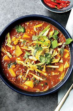 This vegan soup from Desmond Tan's Burma Superstar in San Francisco features a broth that's seasoned with black mustard seeds, cumin, and turmeric. #sidedish #sidedishrecipes #mushrooms #mushroomrecipes #wildmushrooms #morelmushrooms #morelrecipes #wildmorels Best Soup Recipes, Wine Recipes, Vegetarian Recipes, Cooking Recipes, Easy Recipes, Favorite Recipes, Vegan Meals, Burmese Food, Burmese Recipes