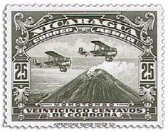 Nicaragua First Airmail Stamp 1929