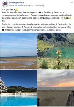Vacances - Equipe - So Happy Web World Photography Day, International Cat Day, Starry Nights, Calendar, Vacation