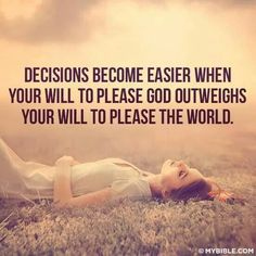 Not my will but God's will be done #submission