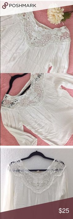 🚨ONE HOUR SALE🚨FOREVER 21 BOHO CROCHET TOP 💗Condition: New with tags. No flaws, no rips, holes or stains 💗Smoke free home/Pet hair free 💗No trades, No returns 💗No modeling  💗Shipping next day 💗I LOVE OFFERS, offer me! 💗BUNDLE and save more 💗All transactions video recorded to ensure quality.  💗Ask all questions before buying (#31) Forever 21 Tops Blouses
