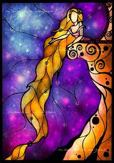 Rapunzel by Mandie Manzano / light through a stained glass window