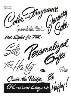 The s in sale reminds me of the s in sibley's...Brush Script Lettering by Depression Press, via Flickr