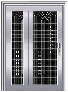 15 Latest Safety Door Designs With Pictures In 2019 15 Strongest Safety Door Designs Catalogue In In Steel Gate Design, Door Gate Design, Door Design Interior, Main Door Design, Wooden Door Design, Front Door Design, Interior Doors, Iron Front Door, Iron Doors