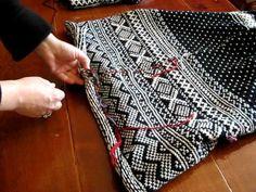 Steeking Armholes in Norwegian Sweater