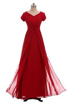 f9f9a11b9bc Rot Kurzarm Abendkleider Ballkleider von Brautmutter Gr.36 38 40 42 44  Günstig