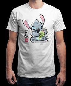 """""""Ohana ink"""" is today's £9/€11/$12 tee for 24 hours only on www.Qwertee.com Pin this for a chance to win a FREE TEE this weekend. Follow us on pinterest.com/qwertee for a second! Thanks:)"""