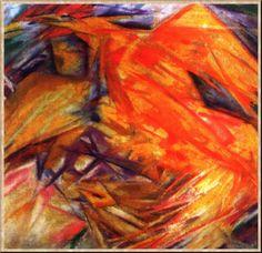 Ларионов, Петух (Лучистый этюд). 1912.