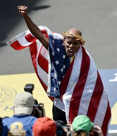 Meb Keflezighi became the first U.S. man to win the Boston Marathon since 1983 in a shocking upset victory Monday.