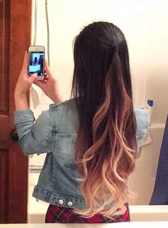 Personal ombre black to warm blonde