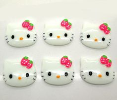 5 Resin Detailed Hello Kitty Flatback by creationandsupplies, $3.50