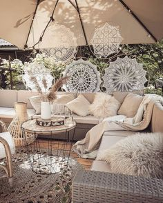 - Outstanding Outdoor Lounge Ideas For Your Home, outdoor living space designs - Outdoor Lounge, Outdoor Spaces, Outdoor Living, Outdoor Decor, Bohemian Patio, Bohemian Decor, Boho Chic, Backyard Patio, Patio Stone