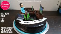 gifts for men:birthday anniversary cake ideas for dad hims boyfriend friends cake decorating classes 30th Birthday Cakes For Men, Funny Birthday Cakes, Birthday Cake For Husband, Unique Birthday Cakes, Special Birthday Cakes, Men Birthday, Husband Cake, Surprise Birthday, 75th Birthday