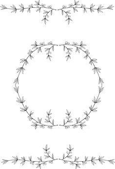 Free Printable :: vintage laurels and olive leaves border and frame