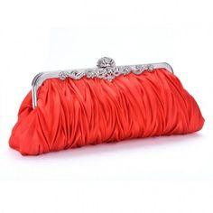 Fashion Satin Elegant Evening Handbag Clutch Purse Bag Bride Bridesmaid