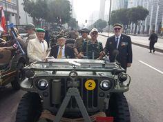 Veteranos judeus participam do Desfile da Independência.