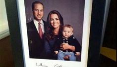 Kate Middleton, Prince William, and their son, Prince George, glow in an image for a new royal thank you card that has emerged online. According to the Mirror,