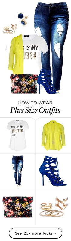 """my friend style inspiration/blue diva"" by kristie-payne on Polyvore featuring New Look, Marskinryyppy and Gioelli Designs"
