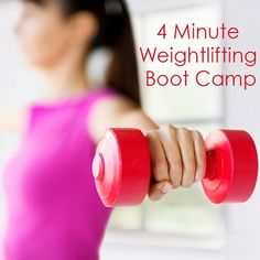 Burn fat with this 4 Minute Weightlifting Boot Camp!  #bootcamp #weightlifting #strengthtraining
