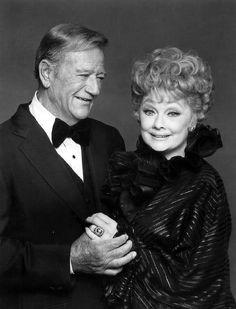 John Wayne and Lucille Ball