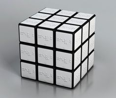 braille rubix cube... that is frickin ridiculous! Like the regular one isn't hard enough?!?!