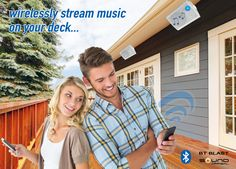 Wireless Outdoor Speakers for your #backyard, sundeck,garage,basement, and boat! Wirelessly Stream Music on Your Deck! Best Father's Day Gift Ideas!