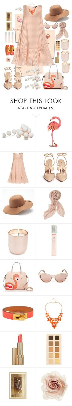 """Sunday"" by mary-domenech ❤ liked on Polyvore featuring Post-It, ACME Party Box Company, WALL, TIBI, Gianvito Rossi, Mudd, Stella & Dot, Jonathan Adler, Torrid and Kate Spade"