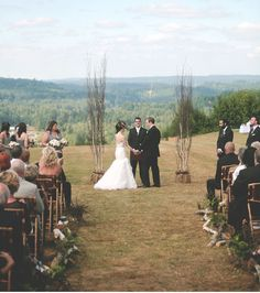 A Rustic Chic Wedding. Love the decor