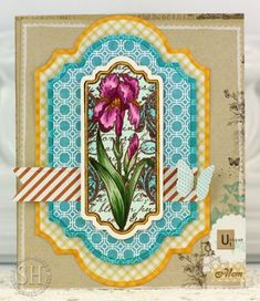 JustRite May Release - Irises Vintage Labels Four | JustRite Papercraft Inspiration Blog