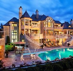 mansion with indoor pool with diving board. Cool Stairwell From The Second Story! I Would Take Diving Board Out Though. Mansion With Indoor Pool