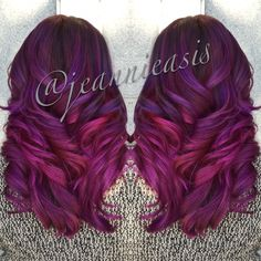 Multi-dimensional ombre.  Used Jerome Russell punk colour & Joico intense colors