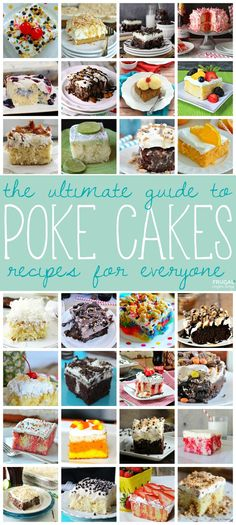 Nothing like a fun Poke Cake Recipe. We love this round-up of recipes including poke cakes with chocolate, fruit, drinks, and even recipes for the kids!