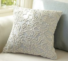 These are going to look great with my white Duvet cover :) All-Over Coral Decorative Pillow | Pottery Barn