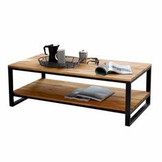 mesa ratona hierro madera living sofá brickmaker c/estante