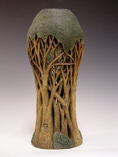 Linda Nowell Silver Kiln - Love the little heart on the bark...this vase is so killer in so many ways!