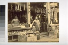 Original Photo Chinese Butcher Shop Chinatown S. By Taber San Francisco Old Pictures, Old Photos, Vintage Photos, Vintage Stuff, California History, Vintage California, San Francisco Earthquake, San Francisco California, Black White Photos