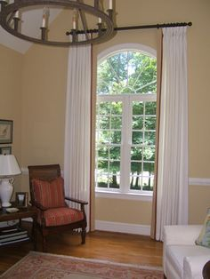 Arched Window with straight top Curtains