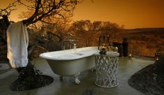 Madikwe Hills Lodge is a luxury Safari Lodge located in South Africa's Madikwe Reserve. Learn more about Madikwe Hills Lodge from the experts at Classic Africa. Outdoor Bathtub, Outdoor Bathrooms, Outdoor Rooms, Outdoor Living, Outdoor Showers, Hotel Bathrooms, Luxury Bathrooms, Master Bathrooms, Dream Bathrooms