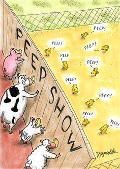 Barnyard Humor: Peep Show