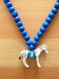 Pray4Trax Necklace Zebra Blue by thelittlevikings on Etsy
