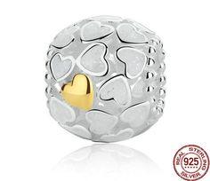 925 Sterling Silver Abundance Of Love Charm, Silver Enamel fit Pandora Bracelet