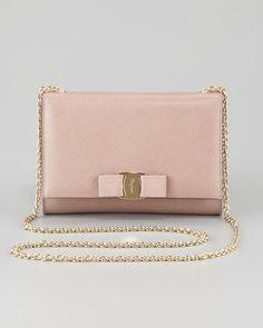 Salvatore Ferragamo Miss Vara Bow Clip Shoulder Bag, Rose
