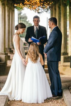 Britney and Michael's10 Guest Intimate Bleak House Wedding. Erin's daughter/flower girl. Photos by Erin Morrison Photography. See more here.... @intimateweddings.com #realweddings #weddingceremony #intimatewedding