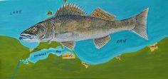Fish Wall Art, Fish Art, Fish Paintings, Great Comebacks, Duck Art, Walleye Fishing, Painting On Wood, Illustration, Animals