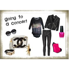 I made this on Polyvore. I've had an account there for a long time and never did anything with it. We'll see how this goes.    Concert, created by #cristela9 on #polyvore. #fashion #style Diesel Black Gold theyskens' theory