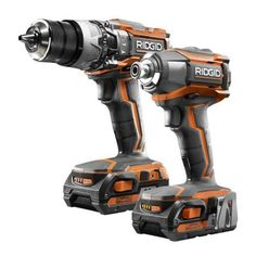 RIDGID 18-Volt Lithium-Ion Cordless Hammer Drill/Driver and Impact Driver Combo Kit-R9624 - The Home Depot