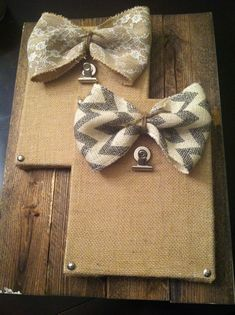 Shabby Chic Picture Holder made with Burlap Covered Canvas! Or use as a recipe holder in the kitchen!! ;)