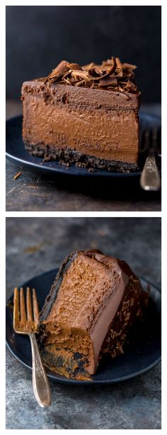 Rich creamy and supremely flavorful this is the ULTIMATE Chocolate Cheesecake! Its so easy to make and freezer friendly! The post Ultimate Chocolate Cheesecake appeared first on Dessert Platinum. Best Chocolate Cheesecake, Mini Cheesecake, Cheesecake Cupcakes, Chocolate Desserts, Cake Chocolate, Ultimate Cheesecake, Chocolate Pasta, Birthday Cheesecake, Cheesecake Decoration