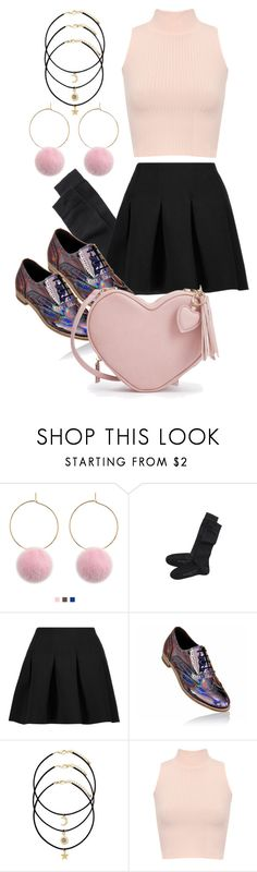 """""""valentines day outfit"""" by evedoll ❤ liked on Polyvore featuring Falke, T By Alexander Wang and WearAll"""