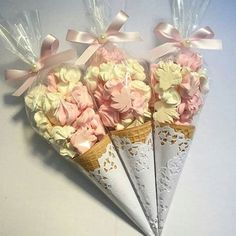 Sweet party favors - ice cream cones Boy Birthday, Birthday Parties, Cake Birthday, Party Gifts, Party Favors, Wedding Favors, Wedding Gifts, Bridal Shower, Baby Shower